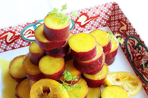 薩摩芋のレモン煮
